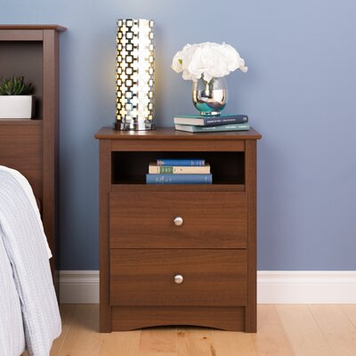 Red Barrel Studio Yards 2 Drawer Nightstand