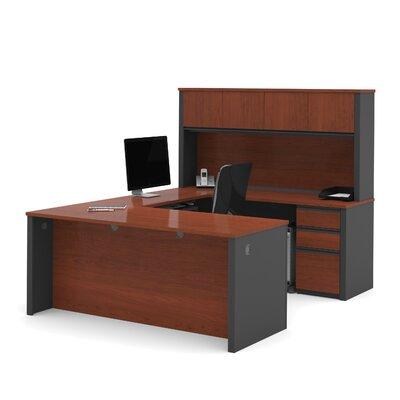 Red Barrel Studio Bormann U-Shape Executive Desk with Hutch