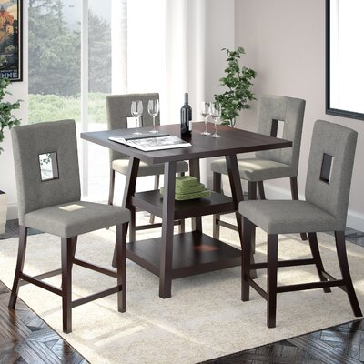 Red Barrel Studio Burgess 5 Piece Counter Height Dining Set
