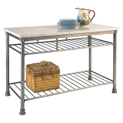 Red Barrel Studio Kibbe Prep Table with Marble Top