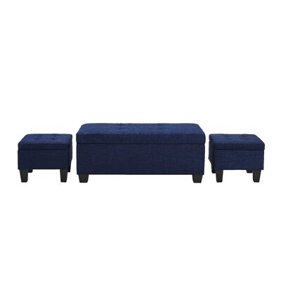 Red Barrel Studio Alchemist 3 Piece Storage Ottoman Set