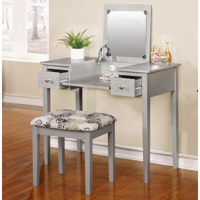 Red Barrel Studio Saw Works Vanity Set with Mirror