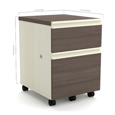 Red Barrel Studio Bormann 2-Drawer Mob..