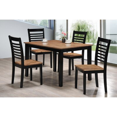 Red Barrel Studio Gold Rush 5 Piece Dining Set by Simmons Casegoods