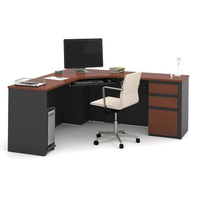 Red Barrel Studio Bormann Corner Desk with Pedestal Image