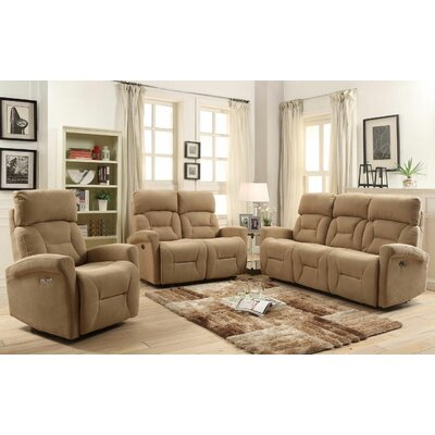 Red Barrel Studio Crippen 3 Piece Power Reclining Living Room Set
