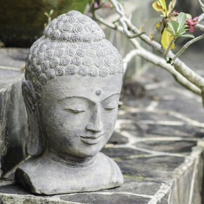 My Spirit Garden Volcanic Ash Sovereign Buddha Head Statue U0026 Reviews |  Wayfair