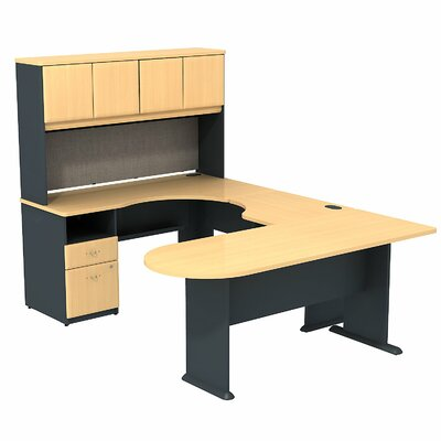 Bush Business Furniture Series A U-Shape Desk Office Suite