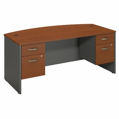 Bush Business Furniture Series C Bow Front Office Desk with 2 Pedestals