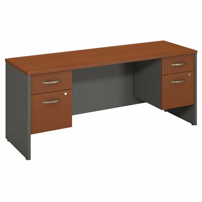 Bush Business Furniture Series C Executive Desk with Double Pedestals