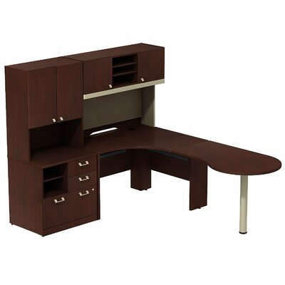 Bush Business Furniture Quantum Peninsula Desk Office Suite
