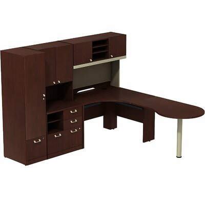 Bush Business Furniture Quantum L-Shape P..