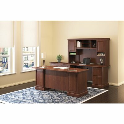 Bush Business Furniture Syndicate Double Pedestal Desk Office Suite