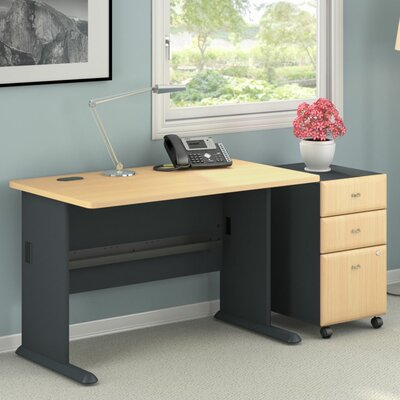 Bush Business Furniture Series A Computer Desk with 3 Drawer Mobile Pedestal