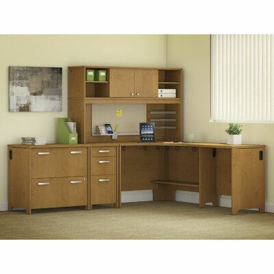 Bush Business Furniture Envoy 5-Piece L-Shape Desk Office Suite