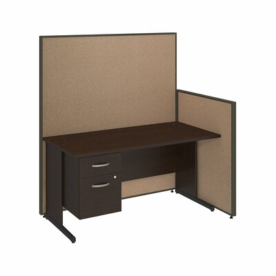Bush Business Furniture ProPanel 2-Piece Standard Desk Office Suite