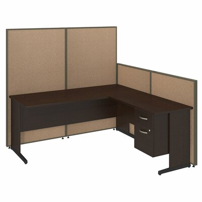 Bush Business Furniture ProPanel 8-Piece L-Shape Desk Office Suite