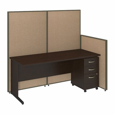 Bush Business Furniture ProPanel 6-Piece Standard Desk Office Suite