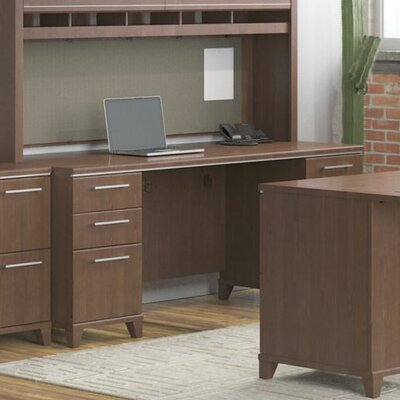 Bush Business Furniture Enterprise Executive Desk with Double Pedestal