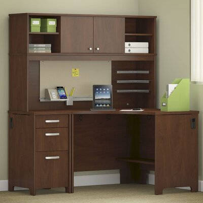 Bush Business Furniture Envoy 3-Piece L-Shape Desk Office Suite
