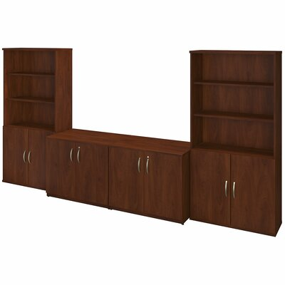 Bush Business Furniture Series C Elite 8 Door Storage Cabinets with Bookcases