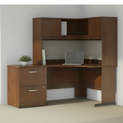 Bush Business Furniture Series C Elite L-Shape Desk Office Suite