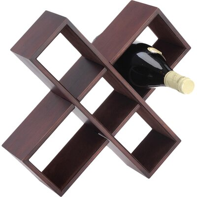 Boston International 5 Bottle Tabletop Wine Rack