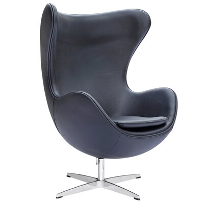 Fine Mod Imports Inner Leather Arm Chair