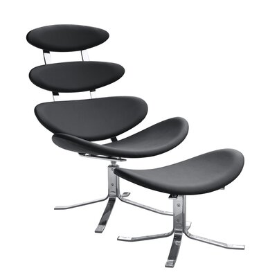 Fine Mod Imports Crono Side Chair and Ottoman