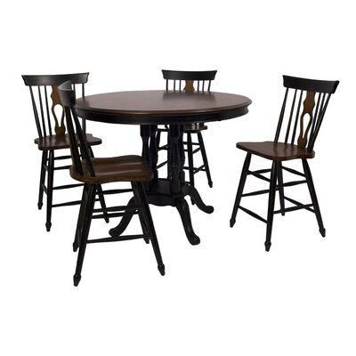 Sunset Trading Fiddleback Dining Table