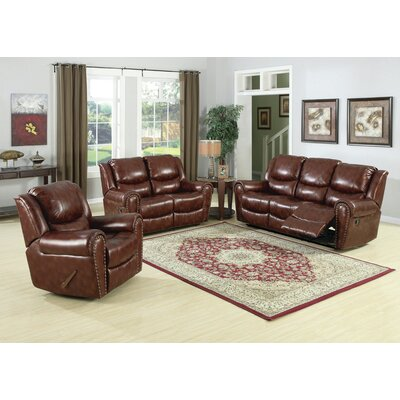 Sunset Trading Oxford 3 Piece Reclining Living Room Set