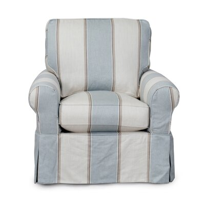 Sunset Trading Horizon Slipcovered Swivel Chair