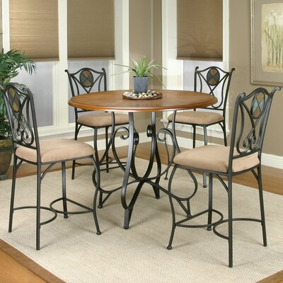 Loon Peak El Diente 5 Piece Counter Height Dining Set