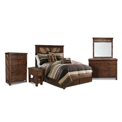 Loon Peak Culbertson Panel 5 Piece Bedroom Set