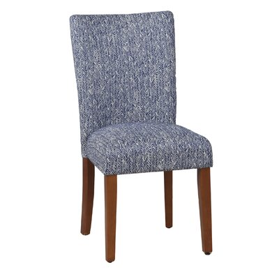 HomePop Upholstered Parsons Chair in Blue (Set of 2)