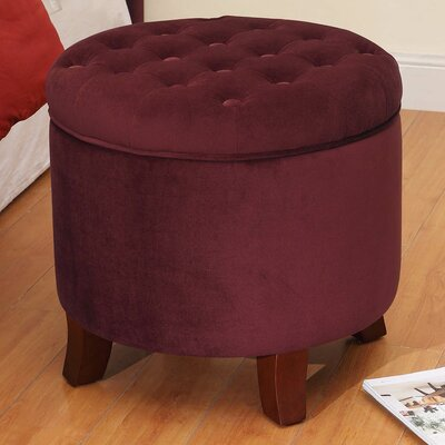 HomePop Upholstered Storage Ottoman