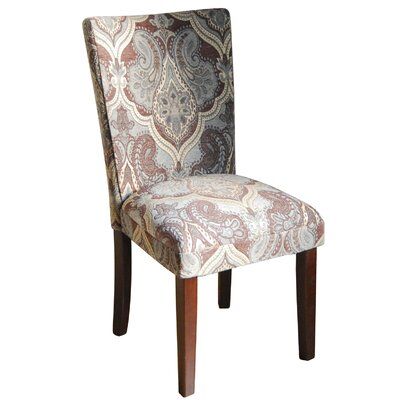 HomePop Kinfine Upholstered Damask Parsons Chair (Set of 2)