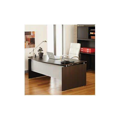 Alera® SedinaAG Series Bow Front Executive Desk Shell