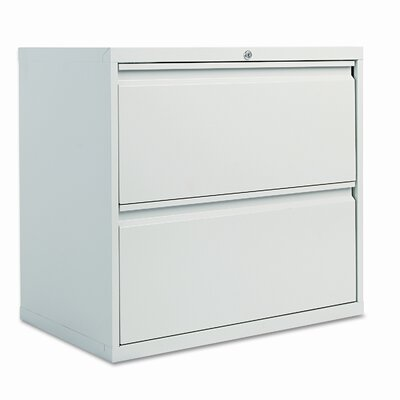 Alera® Two Drawer Lateral File Cabinet, 30w x 19-1/4d x 29h, Light Gray