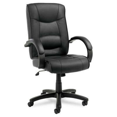 Alera® Strada Series High-Back Leather Executive Chair