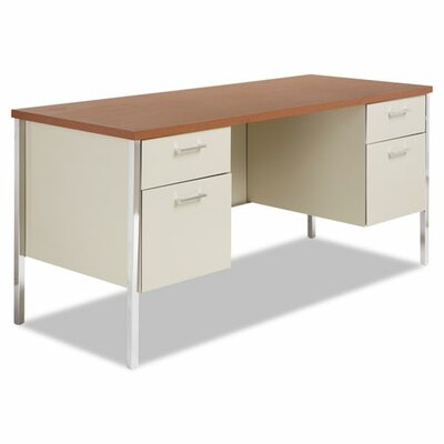 Alera® Computer Desk with Double Pedestal