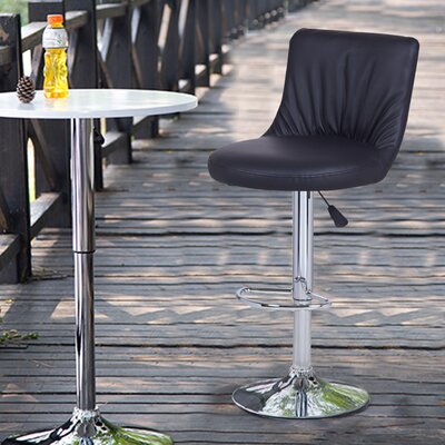 Adeco Trading Adjustable Height Swivel Bar Stoo..