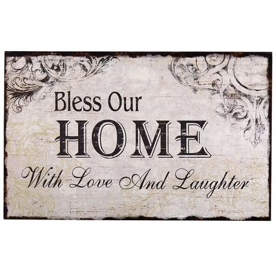 Adecotrading Quot Bless Our Home With Love And Laughter Quot Wall