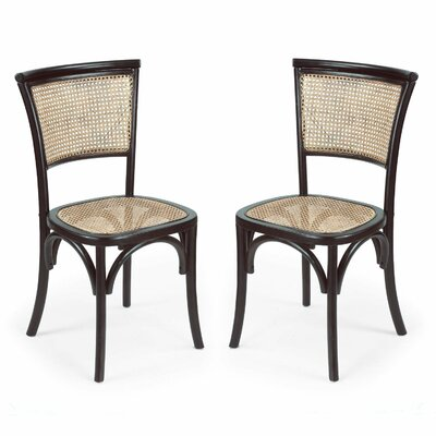 AdecoTrading Dining Cane Side Chair | Wayfair