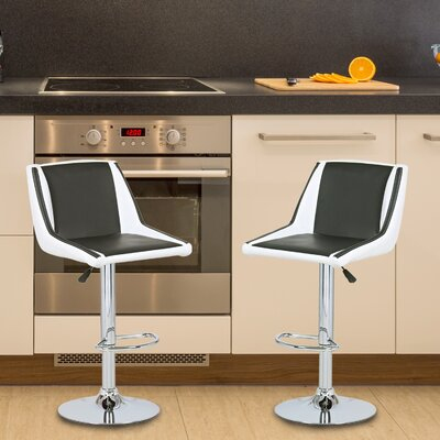 Adeco Trading Adjustable Height Swivel Bar Stool..