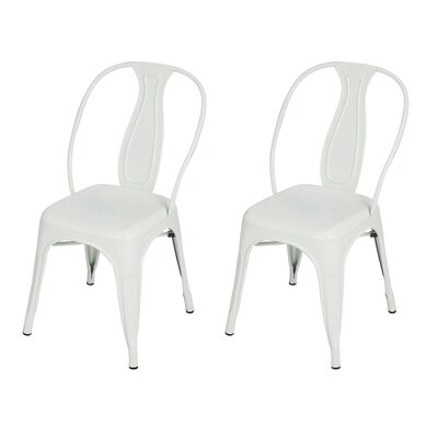 Adeco Trading Vintage Stacking Dining Chair (Set of 2)