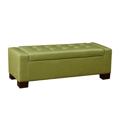 Adeco Trading Large Accents Rectangular Tufted Storage Ottoman
