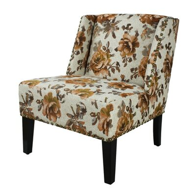 Adeco Trading Printing Fabric Slipper Chair