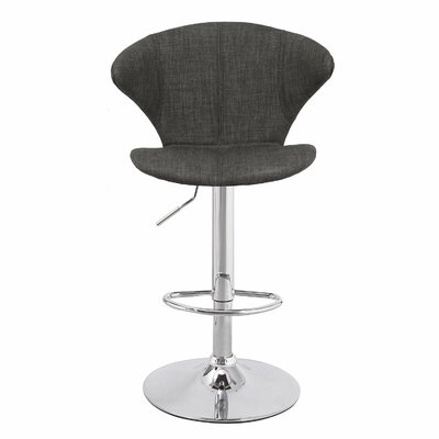 Adeco Trading Adjustable Height Bar Stool with ..