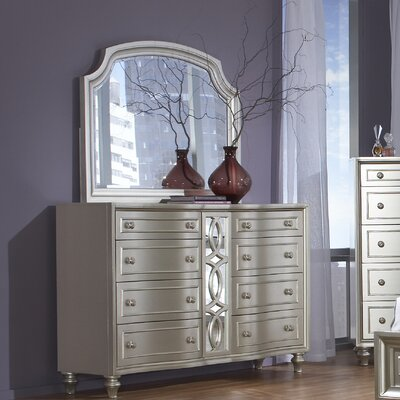 Avalon Furniture Regency Park 8 Drawer Dresser with Mirror